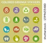alternative energy colored... | Shutterstock .eps vector #1599655480