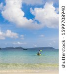 A Men On A Kayak On Koh Rong...