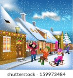 children having fun on the...   Shutterstock .eps vector #159973484