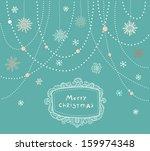 vector christmas background ... | Shutterstock .eps vector #159974348