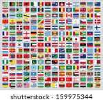 flags of the countries of the... | Shutterstock .eps vector #159975344