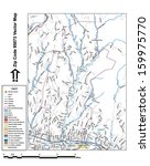 vector map with summits  rivers ... | Shutterstock .eps vector #159975770