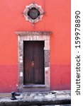 front of an old mexican house   ... | Shutterstock . vector #159978890