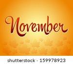 november lettering and fallen... | Shutterstock .eps vector #159978923
