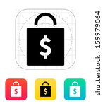 bag with price icon. vector...