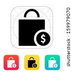 bag cost icon. vector...
