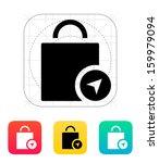 shopping bag location icon....