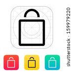 empty bag icon. vector...