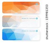 banner abstract header...   Shutterstock .eps vector #159981353