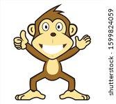 Designs Logo Cartoon Monkey...
