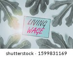 writing note showing living... | Shutterstock . vector #1599831169