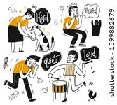the drawing character of people ... | Shutterstock .eps vector #1599882679