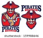 half body pirate mascot   Shutterstock .eps vector #159988646
