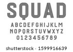 set of alphabets font letters... | Shutterstock .eps vector #1599916639