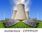 solar energy panels before a... | Shutterstock . vector #159999329