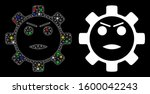 glossy mesh gear angry smiley... | Shutterstock .eps vector #1600042243