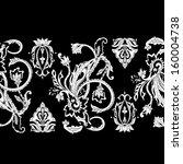 hand drawn paisley pattern.... | Shutterstock .eps vector #160004738