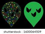 glowing mesh flora field marker ... | Shutterstock .eps vector #1600064509