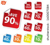 vector  big sale  best offer... | Shutterstock .eps vector #160007084