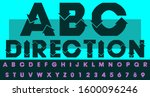 smooth font using directional... | Shutterstock .eps vector #1600096246