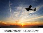 Single Engine Airplane Flying...