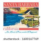 Santa Barbara California Retro...