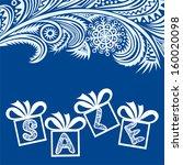 winter sale gifts vector... | Shutterstock .eps vector #160020098