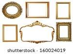 set of golden vintage frames... | Shutterstock . vector #160024019