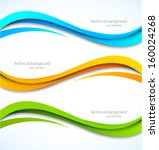 set of wavy banners | Shutterstock .eps vector #160024268