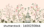 beautiful exotic chinoiserie... | Shutterstock .eps vector #1600250866