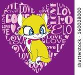 cute cat t shirt graphics cute... | Shutterstock .eps vector #160028000