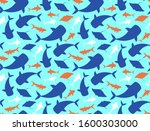 sea life animals  fishes... | Shutterstock .eps vector #1600303000