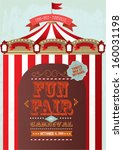 vintage fun fair and carnival... | Shutterstock .eps vector #160031198