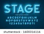 neon light 3d alphabet  extra... | Shutterstock .eps vector #1600316116
