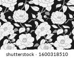 seamless vector black and white ... | Shutterstock .eps vector #1600318510