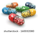 dietary supplements. variety... | Shutterstock . vector #160032080
