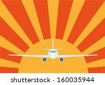 sun and plane | Shutterstock .eps vector #160035944