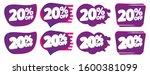 set sale 20  off bubble banners ...   Shutterstock .eps vector #1600381099