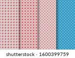 set of 4 oriental patterns.... | Shutterstock .eps vector #1600399759