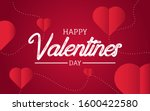valentines day background with... | Shutterstock .eps vector #1600422580