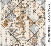 seamless vintage pattern with... | Shutterstock .eps vector #1600479223