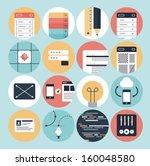 flat design modern vector... | Shutterstock .eps vector #160048580