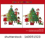 christmas game  find the eight... | Shutterstock . vector #160051523