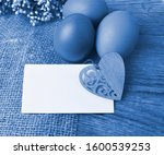 Easter Composition On Wooden...