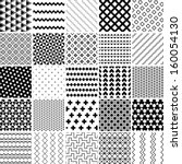 Stock vector monochrome seamless patterns set abstract vector background 160054130