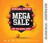 mega sale special offer square...   Shutterstock .eps vector #1600566106