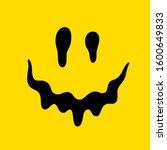 melting smile. dripping smile.... | Shutterstock .eps vector #1600649833