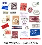 postage stamps and labels from... | Shutterstock . vector #160065686