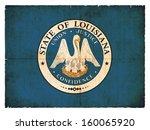 grunge flag of louisiana  usa  | Shutterstock . vector #160065920