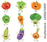 fresh vegetables for healthy...   Shutterstock .eps vector #1600674409